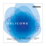 H510 1/2M D'Addario Helicore Cello String Set, 1/2 Scale, Medium Tension