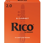 Royal by Daddario RCB1020 Bb Clarinet Reeds, Strength 2, 10-pack