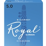 Royal by Daddario RCB1050 Bb Clarinet Reeds, Strength 5, 10-pack