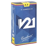 Vandoren CR8045 Bb Clarinet V21 Reeds Strength #4.5; Box of 10