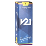 Vandoren CR823 Bass Clarinet V21 Reeds Strength #3; Box of 5