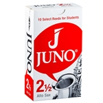 JSR6125 JUNO by Vandoren Alto Sax Reeds; Strength #2.5; Box of 10