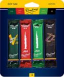 Vandoren SRMIXS3 Soprano Sax Jazz Reed Mix Card includes 1 each ZZ, V16, Java and Java Red Strength #3
