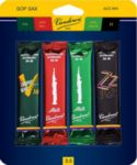 Vandoren SRMIXS35 Soprano Sax Jazz Reed Mix Card includes 1 each ZZ, V16, Java and Java Red Strength #3.5