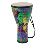 Remo  KD-0608-01  Kids Percussion® Djembe Drum - Fabric Rain Forest, 8""