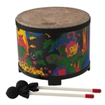Remo  KD-5080-01  Kids Percussion® Floor Tom Drum - Fabric Rain Forest, 10""