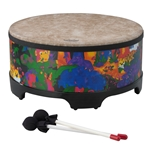 Remo  KD-5816-01  Kids Percussion® Gathering Drum - Fabric Rain Forest, 16""
