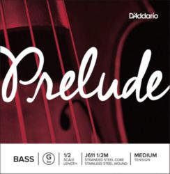 Prelude by Daddario J611 1/2M Bass Single G String, 1/2 Scale, Medium Tension
