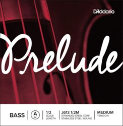 Prelude by Daddario J613 1/2M Bass Single A String, 1/2 Scale, Medium Tension