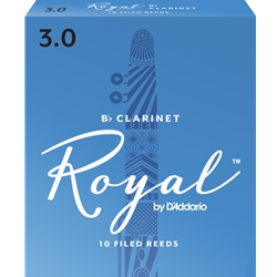 Royal by Daddario RCB1030 Bb Clarinet Reeds, Strength 3, 10-pack