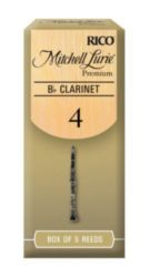 Mitchell Lurie RMLP5BCL400 Premium Bb Clarinet Reeds, Strength 4.0, 5 Pack