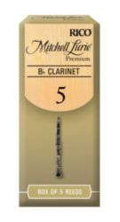 Mitchell Lurie RMLP5BCL500 Premium Bb Clarinet Reeds, Strength 5.0, 5 Pack