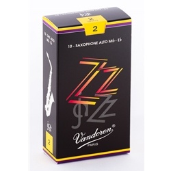 Vandoren SR412 Alto Sax ZZ Reeds Strength #2; Box of 10