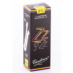 Vandoren SR4425 Bari Sax ZZ Reeds Strength #2.5; Box of 5