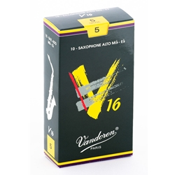 Vandoren SR705 Alto Sax V16 Reeds Strength #5; Box of 10