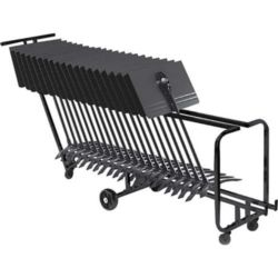 Manhasset  MANHASSET #1910 STAND STORAGE CART - 25 STANDS