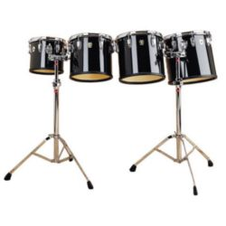 "LUDWIG  Ludwig LECT62CCG 6"", 8"", 10"", 12"" High Range set w/LM442TSR stands"