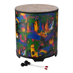 Remo  KD-5218-01  Kids Percussion® Gathering Drum - Fabric Rain Forest, 18""