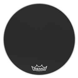 Remo  PM-1428-MP  Powermax® Ebony® Crimplock® Bass Drumhead, 28""