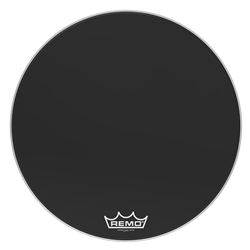 Remo  PM-1430-MP  Powermax® Ebony® Crimplock® Bass Drumhead, 30""