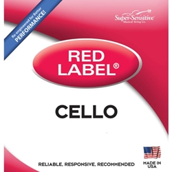Super Sensitive 6147_SS RED LABEL CELLO C 4/4 MED