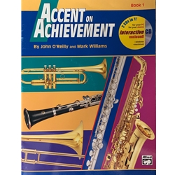 Accent on Acheivement, Book 1 TROMBONE Book &  CD